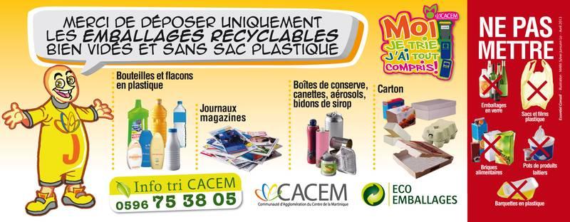 Gestion du tri des déchets de la CACEM. Voir descriptif détaillé ci-après