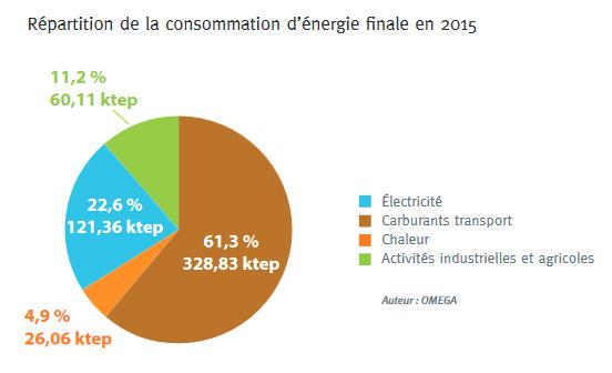 Répartition de la consommation d'énergie finale