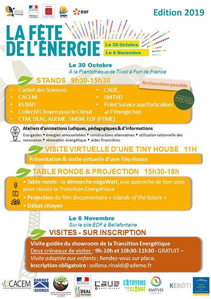 Affiche et programme de la fête de l'énergie - Voir fichier pdf ci après