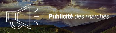Publicité des marchés sur le site national de l'ADEME (nouvelle fenêtre)